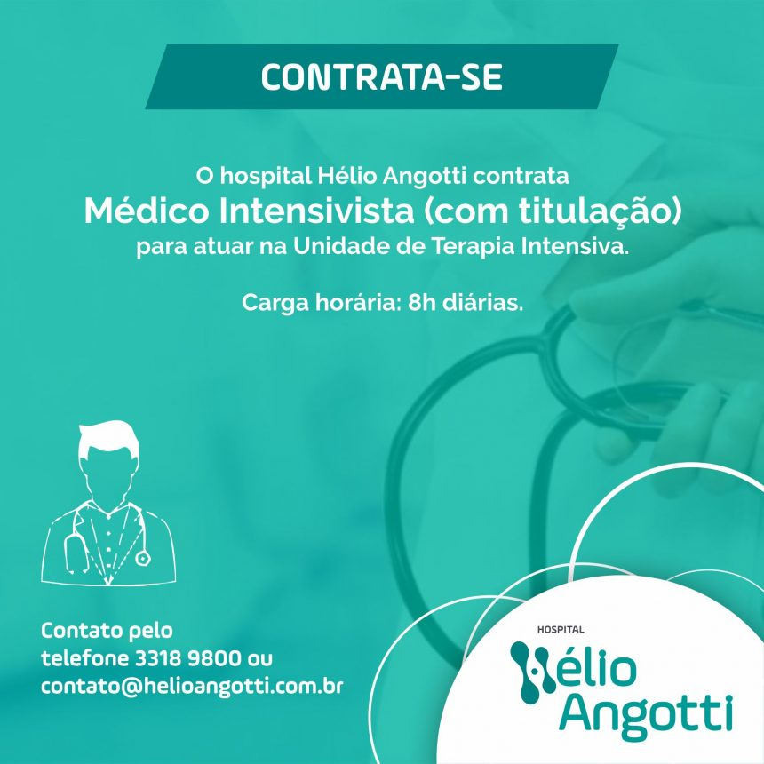 Contrata-se Médico Intesivista