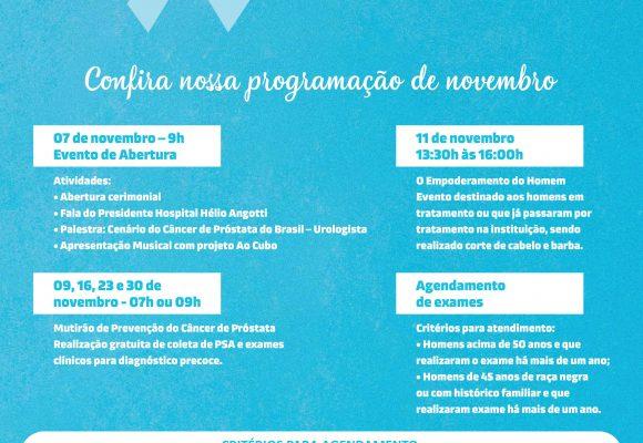 Cronograma Novembro Azul