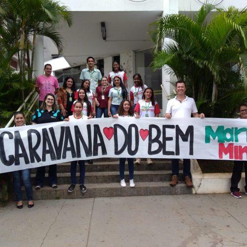 HÉLIO ANGOTTI RECEBE VISITA DA CARAVANA DO BEM DO MART MINAS