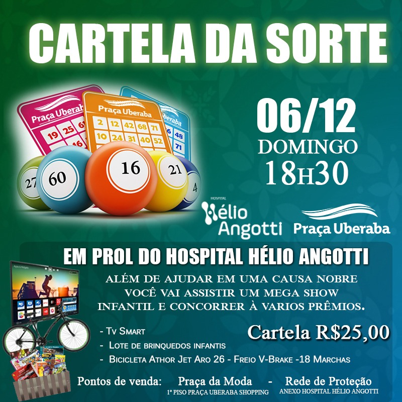 CARTELA DA SORTE – PRAÇA UBERABA SHOPPING