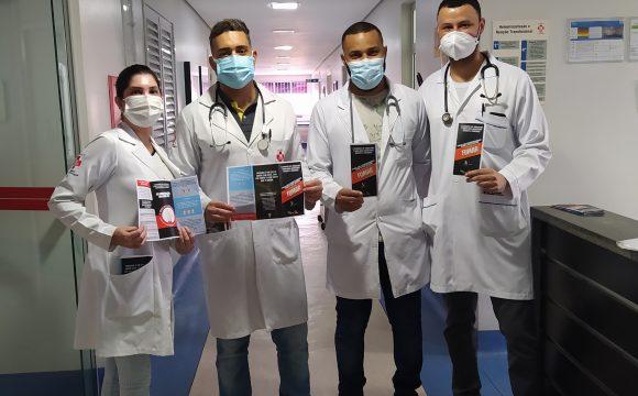 """PROFISSIONAIS DO HOSPITAL HÉLIO ANGOTTI SE UNEM PARA DIZER """"NÃO FUME"""""""